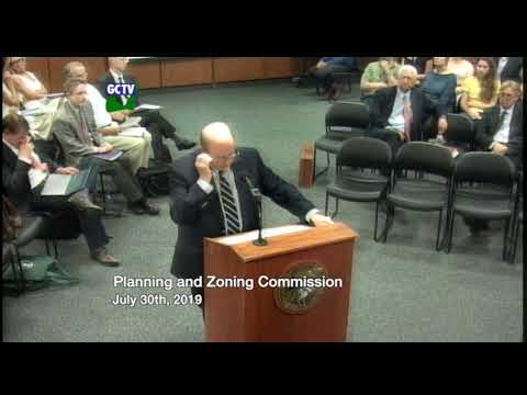 Planning & Zoning Commission, July 30, 2019