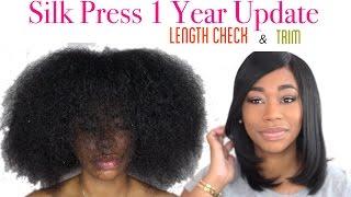 How I Silk Press My Natural Hair Length Check Trim Chimerenicole