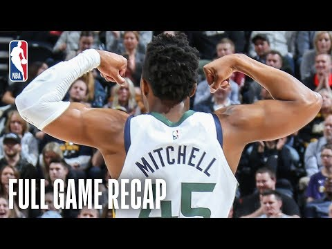 TIMBERWOLVES vs JAZZ   Donovan Mitchell Leads Utah With 24 Points   March 14, 2019