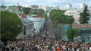 Người Nga tuần hành ở Moscow