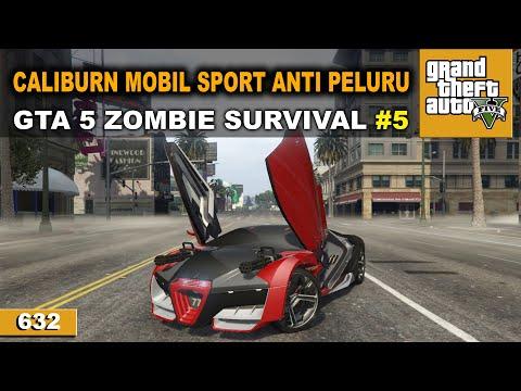 BEGAL KENA SERANGAN MERRYWEATHER   GTA 5 ZOMBIE SURVIVAL #632