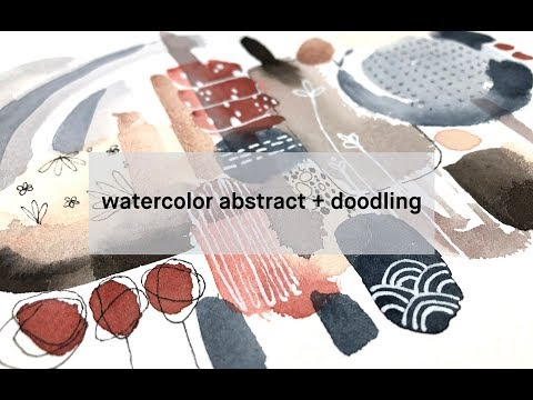 abstract painting + doodling: a good way to find your creative voice