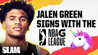 Jalen Green SIGNS WITH THE G League!! UNICORN FAM Goes PRO!! 🦄 | SLAM Profile