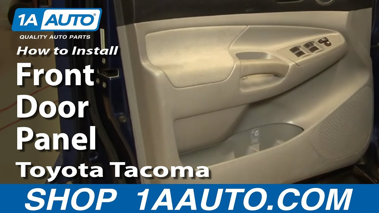 How To Install Replace Remove Front Door Panel Toyota