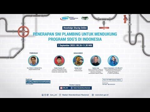 https://youtu.be/h9qNEvxMOKUKnowledge Sharing Online: Penerapan SNI Plambing untuk Mendukung Program SDG's di Indonesia