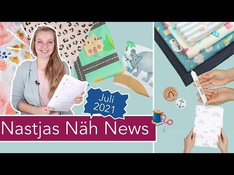 Nastjas Näh News Juli 2021 – Sommertrends, Outdoor DIYs, DIY Eule Stoffe und mehr!