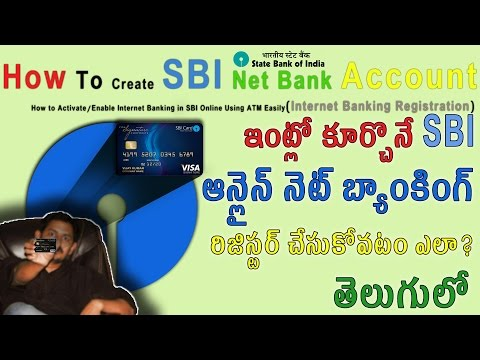 How To Create SBI Net Banking Account [Telugu] తెలుగులో Tech-Logic