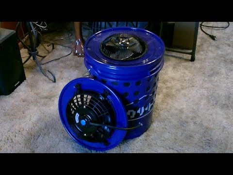 """DIY """"Activated Carbon"""" Air Purifier! The """"5 Gal. Bucket"""" All-Odor Air Cleaner! ~ smoke, smog, fumes"""