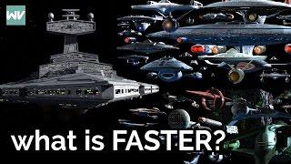 Are starships faster in Star Wars or Star Trek?