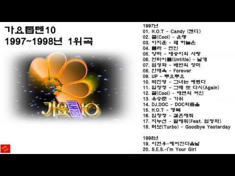 가요톱10 1997~1998년 1위곡