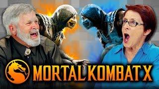 ELDERS PLAY MORTAL KOMBAT X (Elders React: Gaming)