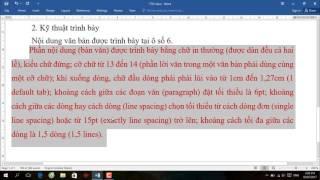 Đặt font chữ, căn lề, giãn dòng, đoạn theo TT01   Thông tư 01   Hướng dẫn sử dụng Word