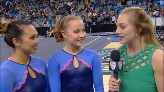 UCLA gymnasts Madison Kocian and Peng-Peng Lee after scoring perfect 10's: 'The magic of Pauley...