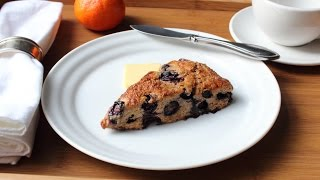 Whole-Grain Blueberry Scone Recipe - How to Make a Blueberry Scone