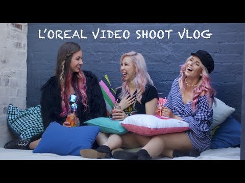 BEHIND THE SCENES OF L'OREAL COLORISTA PHOTO SHOOT | VLOG | RACHAEL BROOK
