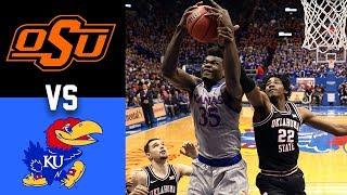 Oklahoma State vs #1 Kansas Highlights 2020 College Basketball