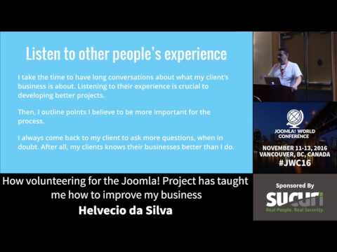 JWC 2016 - How volunteering for the Joomla! Project has... - Helvecio da Silva