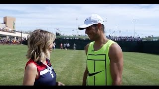 Rafael Nadal Shows Off Soccer Skills