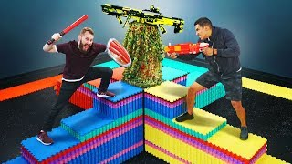 NERF Don't Fall Off The Mountain!