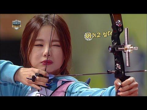 【TVPP】EXID - W Archery Semifinal, 양궁계의 다크호스 EXID! 여자 양궁 준결승전 [2/2] @ 2015 Idol Star Championships