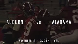 The 2020 Iron Bowl Trailer: No 1. Alabama vs. No. 22 Auburn