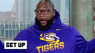 LSU alum Marcus Spears stunts in Tigers gear after beating Alabama | Get Up