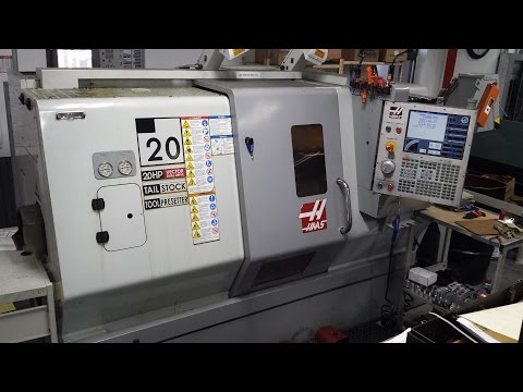 Haas SL20 CNC lathe For Sale, demo video