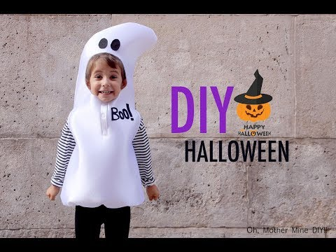 HALLOWEEN: DIY Disfraz de fantasma para niños (patrones incluidos)