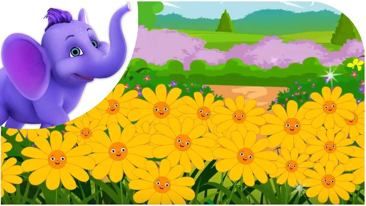 All Flowers Are Waking With Lyrics Nursery Rhyme Youtube