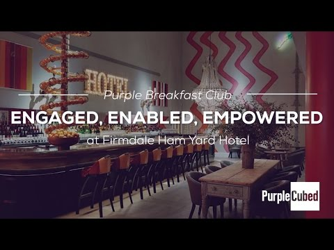 Purple Cubed Breakfast Club - Engaged, Enabled, Empowered