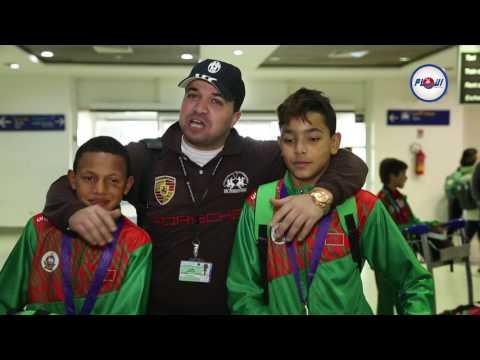وصول بعثة المنتخب المدرسي للمغرب بعد إنجاز تاريخي
