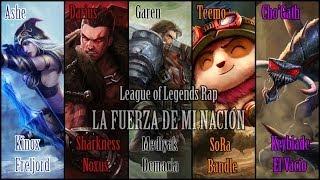 Kinox, Sharkness, Mediyak, SoRa y Keyblade - La fuerza de mi nación    Rap del LoL