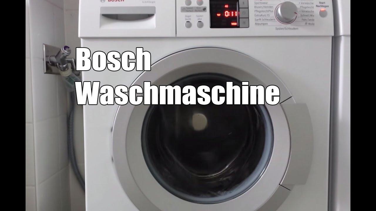 bosch waq284a1 waschmaschine test youtube. Black Bedroom Furniture Sets. Home Design Ideas