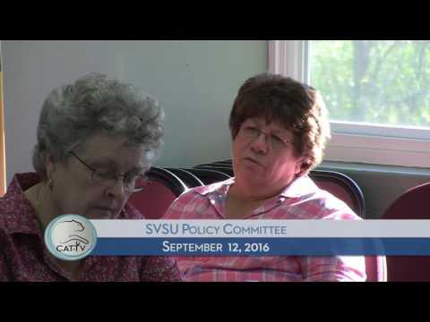 SVSU Policy Committee - 9/12/16