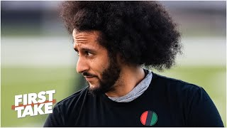The Broncos haven't discussed signing Colin Kaepernick according to Vic Fangio | First Take reacts