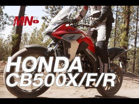 Prueba Honda CB500X/CB500F/CBR500R 2019 [FULLHD]