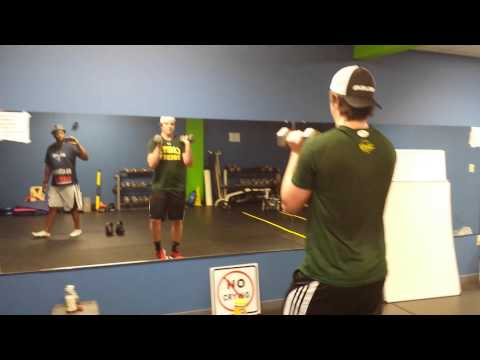 Evan Hoey, RBC up and coming Hockey Star training with Vic Lashley