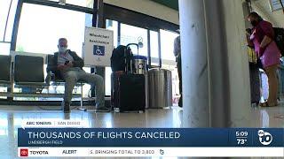 Thousands of US flights canceled