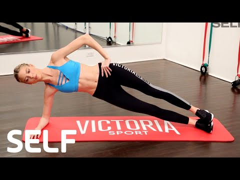The Victoria's Secret Model Abs Workout With Martha Hunt | SELF