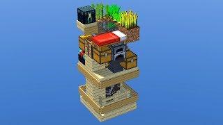 Xếp Đầy Đủ Các Thứ Cần Thiết Cho Sinh Tồn chỉ với 3x3 Block !