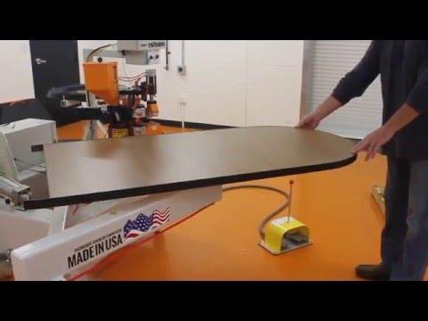 nVision Contour Edgebander Open Shape Banding Laminated Worksurface Panels