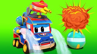 Truck videos for kids -  CHRISTMAS : Super FIRETRUCK has to SAVE CHRISTMAS - Super Truck !