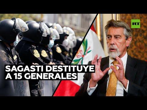 El presidente de Perú cambia los mandos policiales tras represión a manifestantes