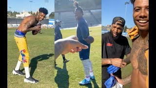 Blueface Works Out With Cam Newton And OBJ 🏈  Gets Crowned Best Quarterback Rapper