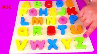 Learn Letters With Alphabet Puzzles Compilation