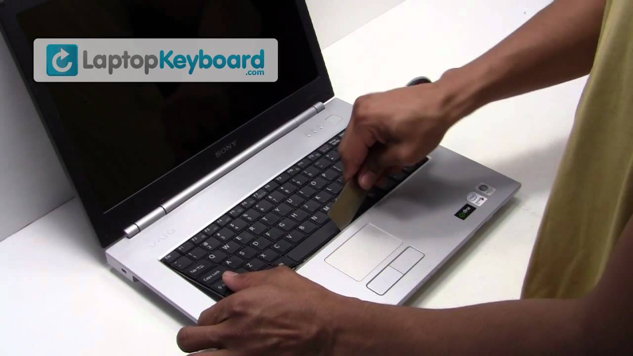 Sony Vaio Laptop Keyboard Installation Replacement Guide - Remove .