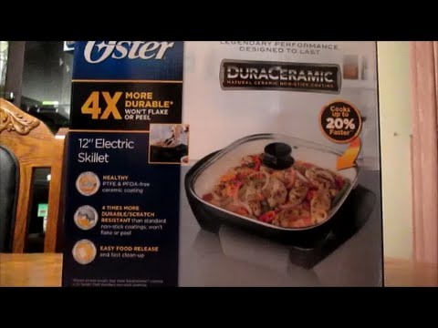 video Oster Titanium-Infused Duraceramic Electric Skillet Review?‍?