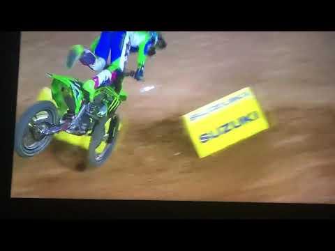 Adam Cianciarulo Huge Crash - Glendale Supercross Rd.4