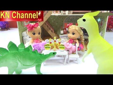 KN Channel Đồ chơi trẻ em BÉ NA LÀM MẸ CỦA KHỦNG LONG | Ấp trứng khủng long Dinosaur egg