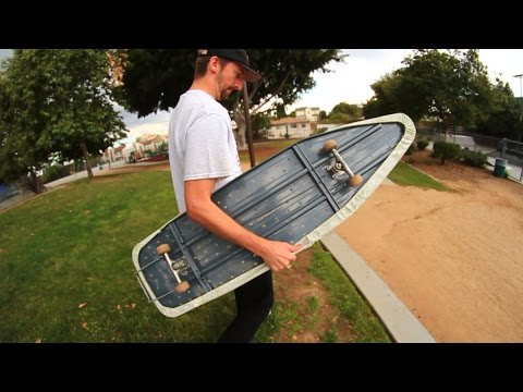 SKATEBOARDING ON AN IRONING BOARD! | SKATE EVERYTHING EP 27